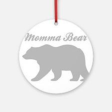 Momma Bear Round Ornament