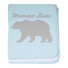 Momma Bear baby blanket