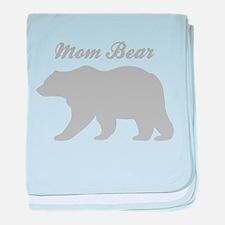 Mom Bear baby blanket