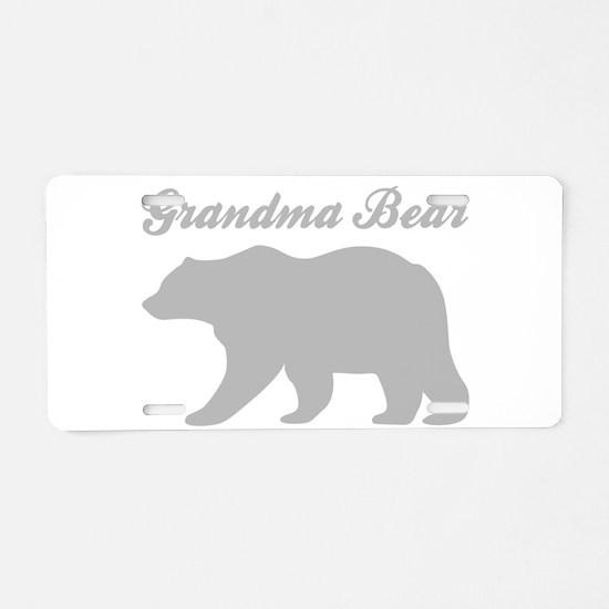 Grandma Bear Aluminum License Plate