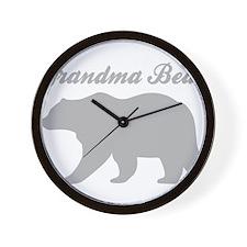 Grandma Bear Wall Clock