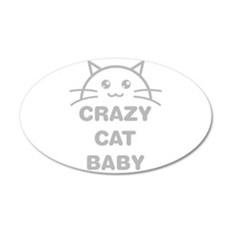 Crazy Cat Baby Wall Decal
