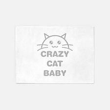 Crazy Cat Baby 5'x7'Area Rug