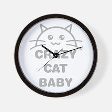 Crazy Cat Baby Wall Clock