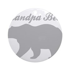 Grandpa Bear Round Ornament