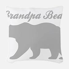 Grandpa Bear Woven Throw Pillow
