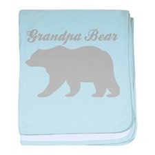 Grandpa Bear baby blanket