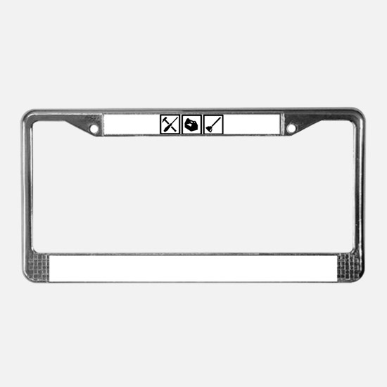 Janitor tools License Plate Frame