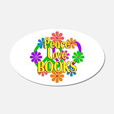 Peace Love Books Wall Decal