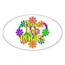 Peace Love Books Decal
