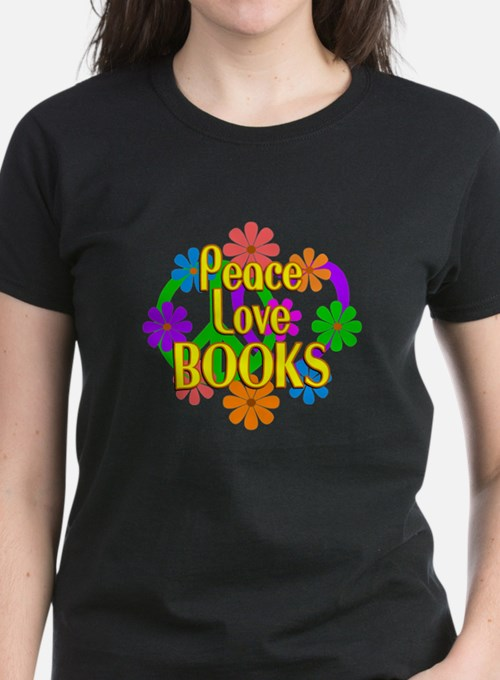 Peace Love Books Tee