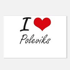 I love Poleviks Postcards (Package of 8)