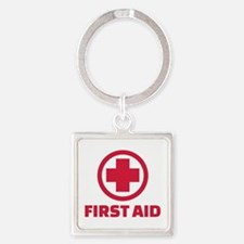 First aid Square Keychain