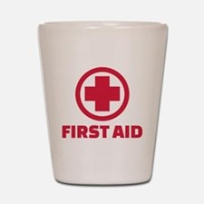 First aid Shot Glass