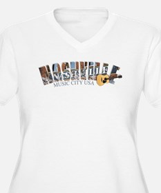 Nashville Music City-02 Plus Size T-Shirt