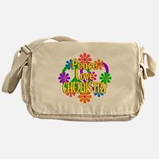 Peace Love Chemistry Messenger Bag