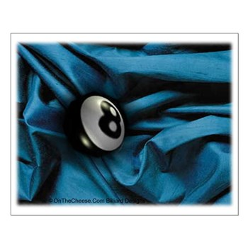 Dreamy 8 Ball In Blue Small Poster