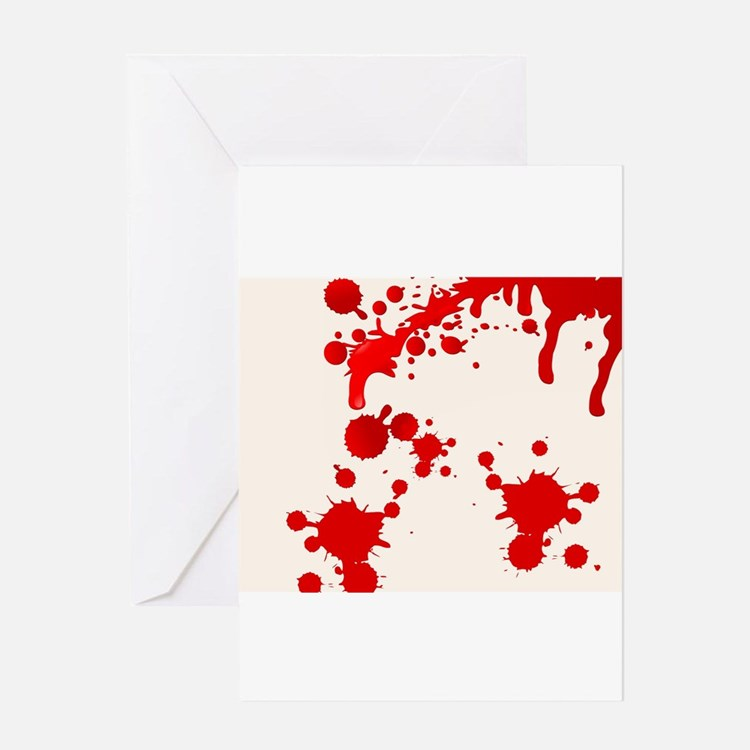 Blood Splatter Greeting Cards