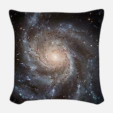 Pinwheel Galaxy M101 Woven Throw Pillow
