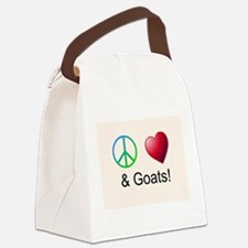 Oeace Love Goats Canvas Lunch Bag