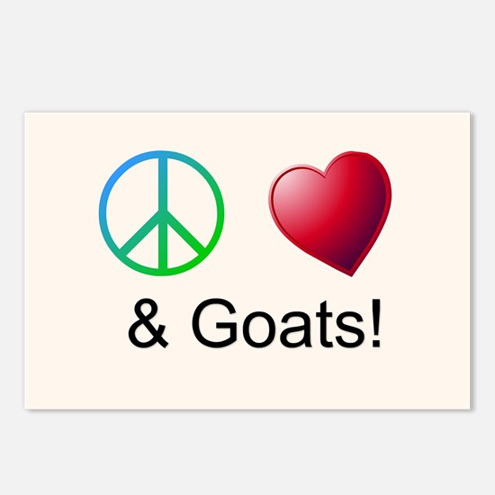 Oeace Love Goats Postcards (Package of 8)