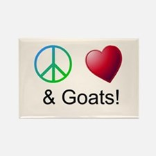 Oeace Love Goats Magnets