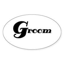 Black Groom Oval Decal