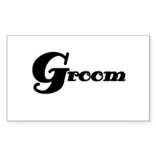Black Groom Rectangle Decal