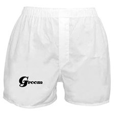 Black Groom Boxer Shorts