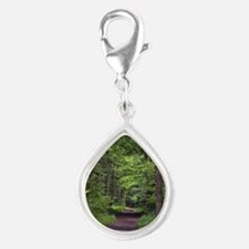 Nature Tail Silver Teardrop Charm