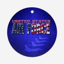 Air Force Round Ornament