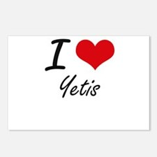 I love Yetis Postcards (Package of 8)