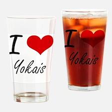 I love Yokais Drinking Glass