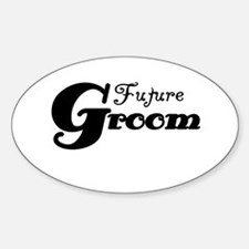 Future Groom Black Oval Decal