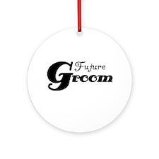 Future Groom Black Ornament (Round)