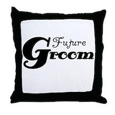 Future Groom Black Throw Pillow