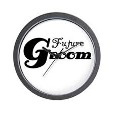 Future Groom Black Wall Clock