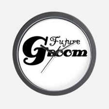 Future Groom Black Wall Clock