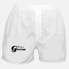 Future Groom Black Boxer Shorts