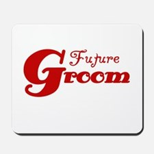 Future Groom Red Mousepad
