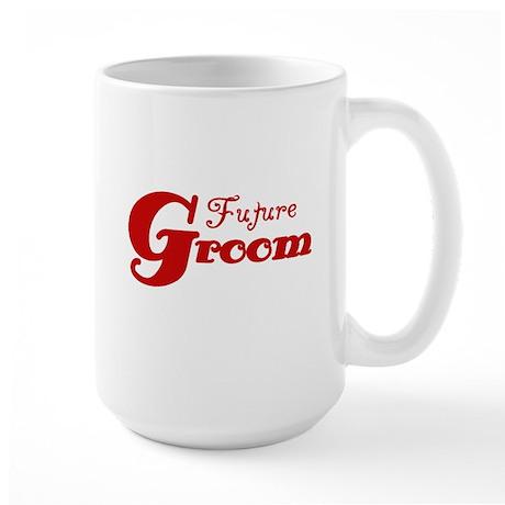 Future Groom Red Large Mug