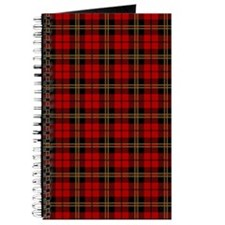 Brodie Red Scottish Tartan Journal
