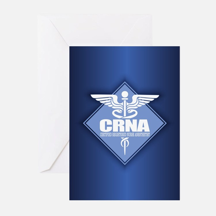 CRNA (b)(diamond) Greeting Cards