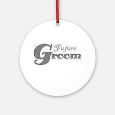 Future Groom Gray Ornament (Round)