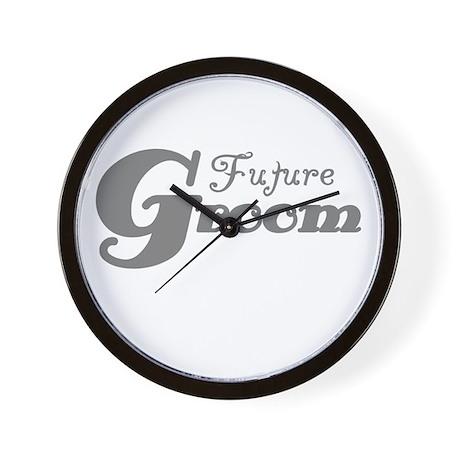 Future Groom Gray Wall Clock