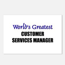Worlds Greatest CUSTOMER SERVICES MANAGER Postcard