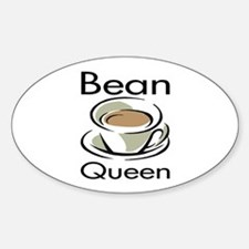Bean Queen Oval Decal