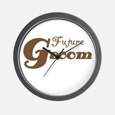 Future Groom Brown Wall Clock