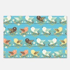 Assorted birds pattern Postcards (Package of 8)