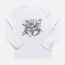 Funny Catoons Long Sleeve Infant T-Shirt